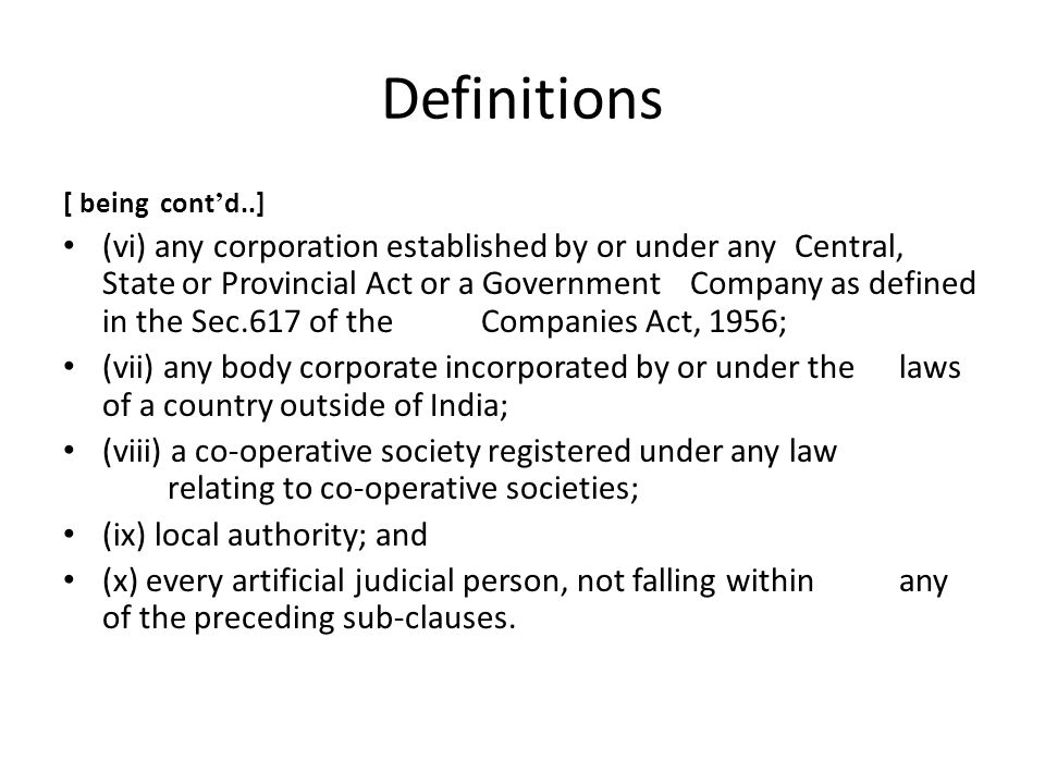 Definitions [ being cont'd..]